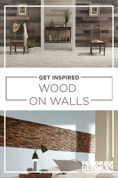 Wood on walls is a quick way to add texture and visual interest. From wood-look tile to laminate to wood made specifically for walls, you're going to find a style you love. Vintage Industrial Furniture, Industrial Loft, Coastal Bedrooms, Wood Look Tile, Wood Wall Decor, French Country Style, Floor Decor, Interior Design Living Room, Diy Home Decor