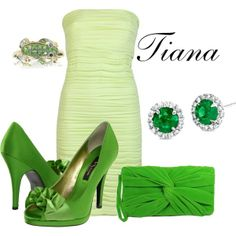"""""""Tiana"""" by sydney-emerson on Polyvore...could be a really cute bridesmaid dress idea"""