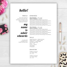 Annabeth Coates Is A Chic And Modern Resume Template Perfect For
