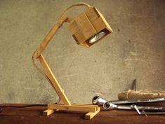 Kran IV - handmade wooden lamp