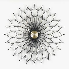 Sunflower-Clock-Messing_black_web