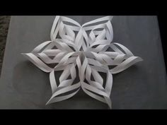 Easy to make 3-Dimensional paper snowflakes look beautiful hanging on a wall or in a window. They are fun for kids or adults. http://www.handimania.com/diy/3...