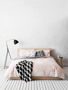 For the Home: Scandinavisch wonen Dream Bedroom, Home Bedroom, Bedroom Decor, Bedrooms, Bedroom Ideas, Budget Bedroom, Bedroom Designs, Modern Bedroom, Home Living