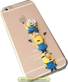 Minions Despicable Me transparent clear iphone 6 case model For men and women Highest quality permanent print not stickers New 2015 clear style Latest stylish design pattern basketball shoes Made of rubber and hard plastic Protect your investment and smartphone Perfect custom fit for your awesome gadget Best lifetime guarantee (minion10) #minions
