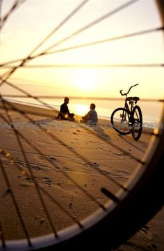 Watching the #sunset after a nice bike ride down the boardwalk, we really don't…