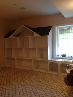 Our Doll House Has Been Finished Girls Room Playroom Girl Room Girls Dollhouse, Diy Dollhouse, American Girl Dollhouse, Dollhouse Bookcase, Doll Furniture, Dollhouse Furniture, Furniture Ideas, Girls Furniture, Painted Furniture
