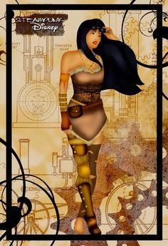Another steampunk Disney gem by deviantART contributor HelleeTitch.