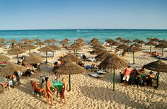 Hammamet Tunisia beach at the Sheraton