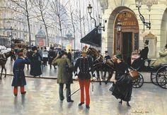 Le boulevard des Capucines et le théâtre du Vaudeville Jean-Georges Béraud