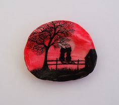 #Cat #Painting on #Shell: #Romantic Cats Shell by ClaudinesArt on Etsy