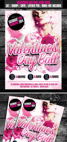 Valentines Day Ball Club Flyer — Photoshop PSD #valentines #valentines day flyer • Available here → https://graphicriver.net/item/valentines-day-ball-club-flyer/9909938?ref=pxcr