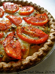 4 Vege version of Julia Child& Provençal quiche - pizza Quiche Recipes, Brunch Recipes, Breakfast Recipes, Quiches, Julia Childs, Great Recipes, Favorite Recipes, Delicious Recipes, Vegetarian Recipes