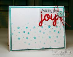 Wishing You Joy Christmas Card by Katie Melhus - Merry Monday Christmas Challenge