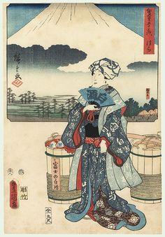 Hara, 1854 by Hiroshige (1797 - 1858) and Toyokuni III/Kunisada (1786 - 1864)