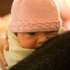 We Like Knitting: Braided-Edge Baby Hat - Free Pattern