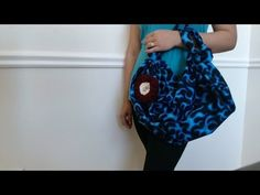 DIY Fashion: No sew handbag in 2 minutes (just 1 yard of fabric) - YouTube