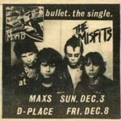Early Misfits flyer