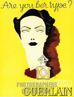 Mitsouko Guerlain , 1938 advert in an English magazine for the classic French perfume
