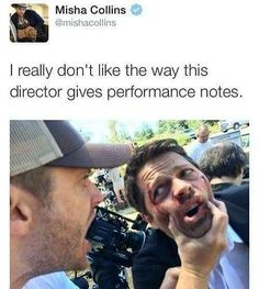 it's only me or the ''director'' looks like he is eating the camera?