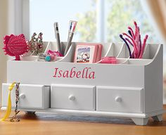 Image for Children's Personalised Wooden Organiser from The Original Gift Company