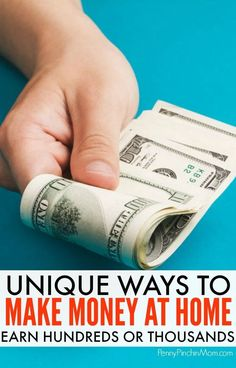 Simple side-hustle ideas to help you make more money at home. Use the income to get out of debt or live the life you want! Easy things anyone can do to replace your income or just make a little more on the side. Make Money Make More Money, Ways To Save Money, Make Money From Home, Money Saving Tips, Extra Money, Money Tips, Extra Cash, Legitimate Work From Home, Work From Home Jobs