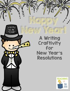 New Year's Resolutions Writing Craftivity