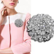 Silver Wedding Rhinestone Pearl Broach Brooch Pin Bouquet Bridal Flower Cheap