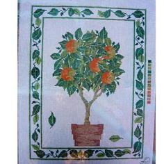 $30.00 Orange Tree Handpainted Canvas by MaterialAssets on Handmade Australia