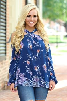 The Harlow Top: True Blue