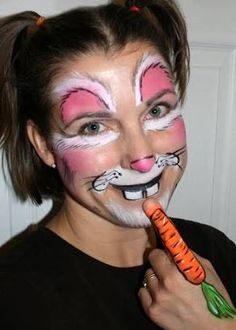 Image result for rabbit face paint easy