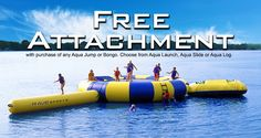 Free Launch, Slide or Log water trampoline attachment HAPPENING NOW! Ends 5/31/17.