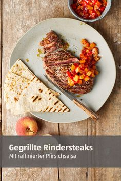 Rinder Steak, Super, Risotto, Dip, Salsa, Grilling, Bread, Ethnic Recipes, Food