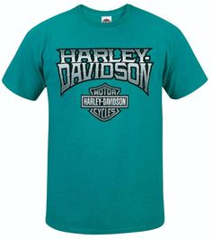 """Sharp Points"" 90/10 Tee - Antique Jade Dome - Available in sizes S - 3X at your local Harley-Davidson® dealer. Harley Davidson Dealers, New Harley Davidson, Motorcycle Jeans, Points, My Style, Fall, Clothing, Mens Tops, T Shirt"
