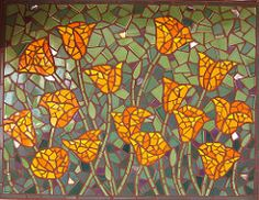 Poppies Mosaic by Rachel Rodi | by Rachel Rodi Mosaics