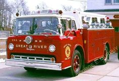 us Great River,NY FD Ford + Seagrave  Rescue