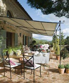 Enjoying breakfast in Provence