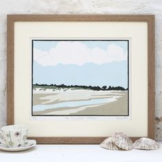 Hand Printed The Long Beach, Holkham Linocut Print £125.00