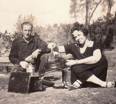 Brunch on the Camp Stove 1924 Vintage by EphemeraObscura on Etsy, $2.50