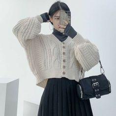 Korean Girl Fashion, Korean Street Fashion, Ulzzang Fashion, Muslim Fashion, Asian Fashion, Modest Fashion, Hijab Fashion, Fashion Outfits, Long Skirt Fashion