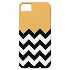 Beeswax-On-Black-&-White-Zigzag-Pattern iPhone 5 Cases