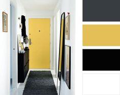 Yellow Hallway, Hallway Decorating, Wall, Walls, Aisle Decorations