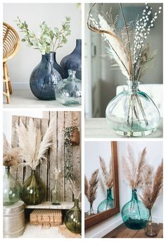 Dame Jeanne – Dried flowers - Decoration - Amazing Home Decorations Room Decor Bedroom, Living Room Decor, Flower Decorations, Table Decorations, Blog Deco, Home And Deco, Lounges, Dried Flowers, Diy Home Decor