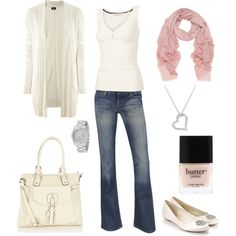 Casual Creams, created by shellkennedy on Polyvore