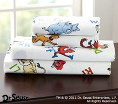 We read Fox in Sox Every Night! Maybe a Dr. Suess room will be a better sight!! hee heee
