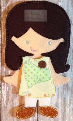Bebé con trajes para la muñeca de fieltro: Ring Sling o portador de cara suave