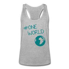 Wir sind eine Welt, und wir haben nur diese eine! Zeichen setzen! • Sportlich geschnittenes Tank Top für Männer