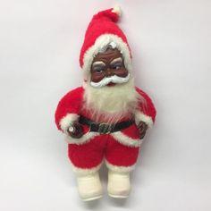 50's Rushton Coca Cola Coke Black Santa Claus African American Rubber Vinyl Face  | eBay