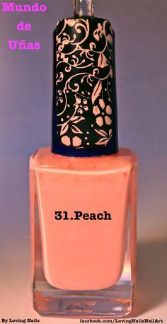Mundo de Unas Stamping Polish Peach (mini)