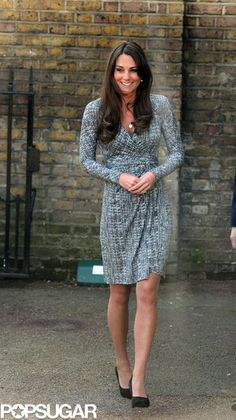 Kate Middleton Shows Her Baby Bump as She Gets Back to Royal Work!: Kate Middleton made her first public appearance after her babymoon. : Kate Middleton met with patients.