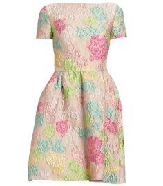 Valentino Jacquard Dress - ShopBAZAAR